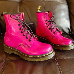 Dr. Martens Pink 1460 Lace Up Ankle Boots